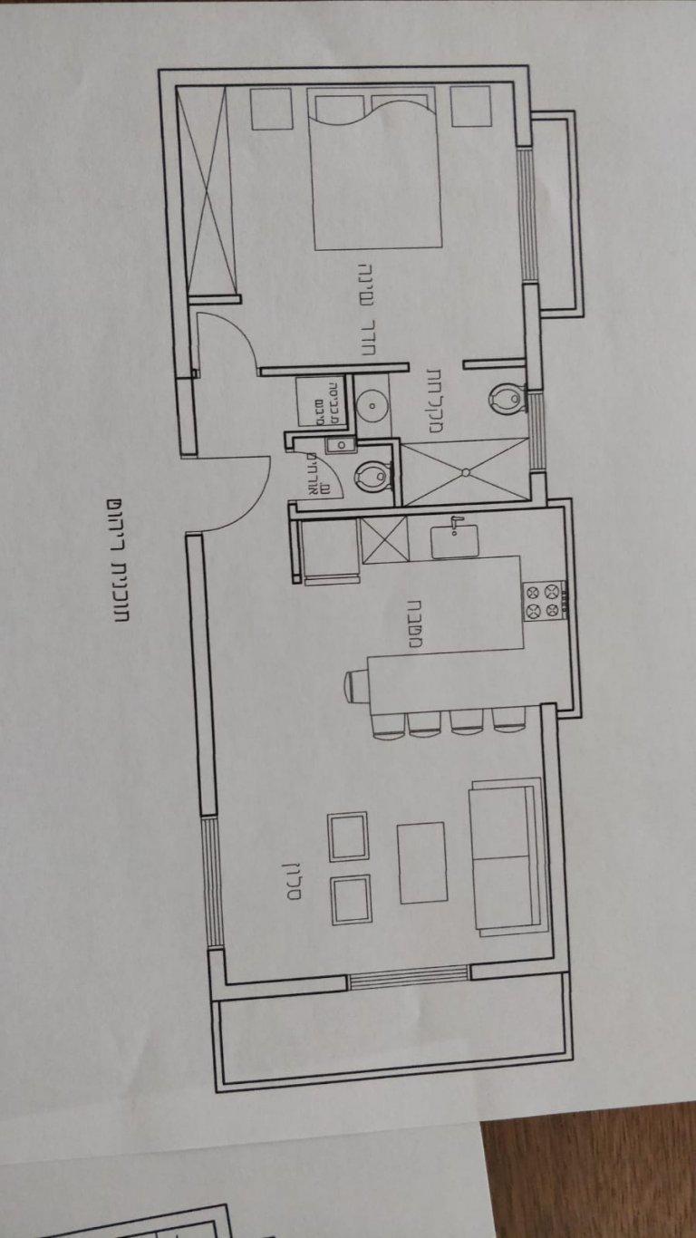 תוכנית הדירה המוצעת למכירה