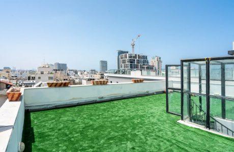 למכירה בכרם התימנים דירת גג 4 חדרים גדולה +גג ענקי בטאבו סמוך לחוף גאולה